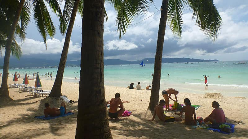 Beach Bumming and Swimming at White Beach