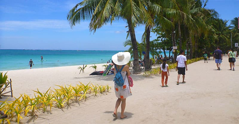 The path on Boracay's White Beach